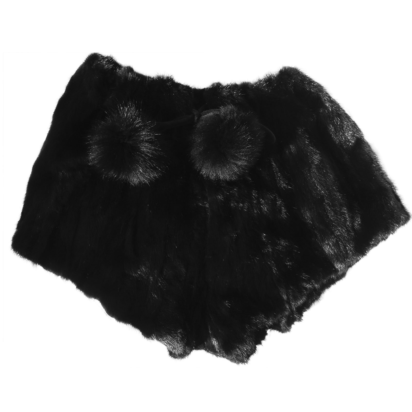 MinkgLove Mink Strips Boxer Shorts Briefs Underwear, Silky Smooth and Textured Feel, Fur Lined Fly, Black, Hand Tailored, One Size - Single Sided Fur