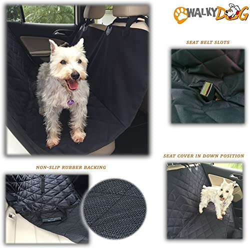 Walky Dog Deluxe XL Rear Seat, Hammock Seat Cover for Full Size Cars Trucks and SUVs