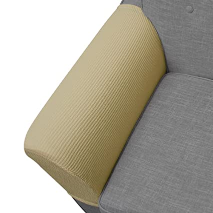 Newmeil Upgrade Anti Slip Stretch Spandex Armrest Cover, For Fabric And  Leather Recliner Chair Couch