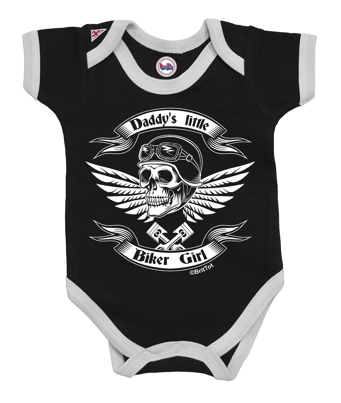 Girls Baby Grow Daddy`s Little Biker Girl by BritTot