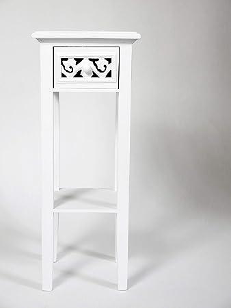 Romantic Telefontisch Beistelltisch Anrichte Weiß Landhausstil