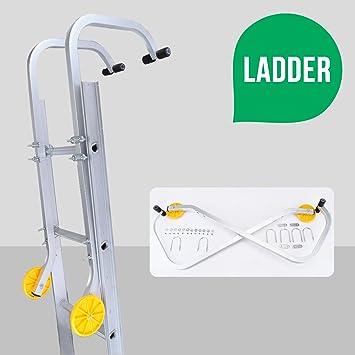 uenjoy Universal techo gancho accesorio Kit para escalera de aluminio con ruedas: Amazon.es: Bricolaje y herramientas