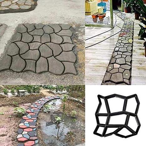 DTTN DIY Walk Maker, Pathmate Pavimento de moldes de Piedra Pavimento de hormigón Molde de adoquines Camino de adoquines Camino para jardín, Patio, Patio: Amazon.es: Jardín