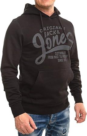 Jack /& Jones Core Sweat à capuche jcoaxelsen Homme à Manches à Rayures Mélange Pull Pull