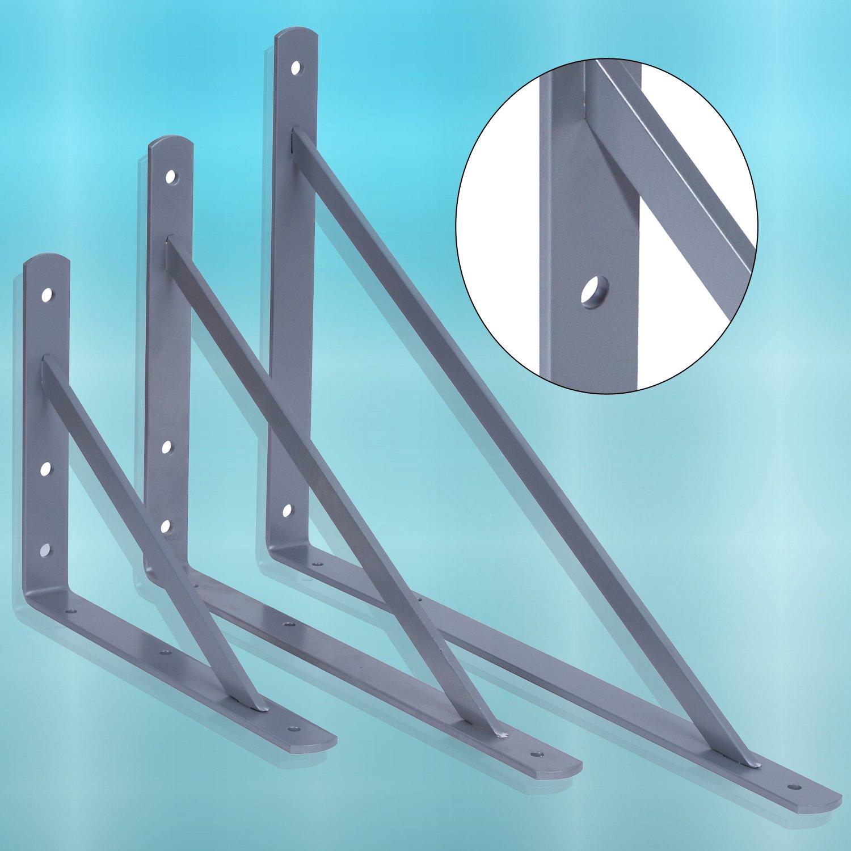 VERZINKT Regalwinkel Winkeltr/äger Metall Schwerlastkonsolel Regalhalter PRIOstahl/® Schwerlasttr/äger| REGALTR/ÄGER mit SCHRAUBEN /& D/ÜBEL