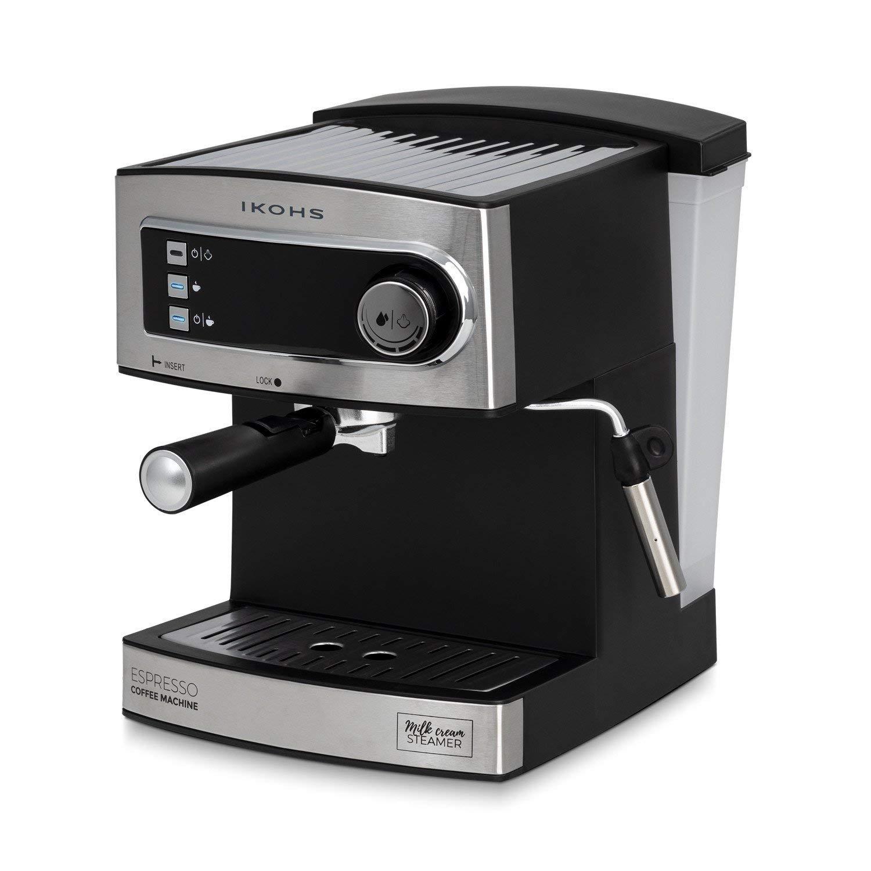 IKOHS CÖHF Espresso - Cafetera Express para Espresso y Capuccino, depósito 1,6 litros, 850 W, 20 Bares, Vaporizador Orientable, Digital, Bandeja ...