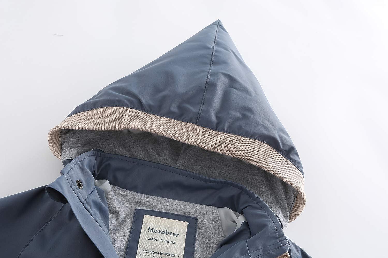 POBIDOBY Kids Hooded Windbreaker Jacket Boy Girl Outwear Reflective Waterproof Raincoat for Children