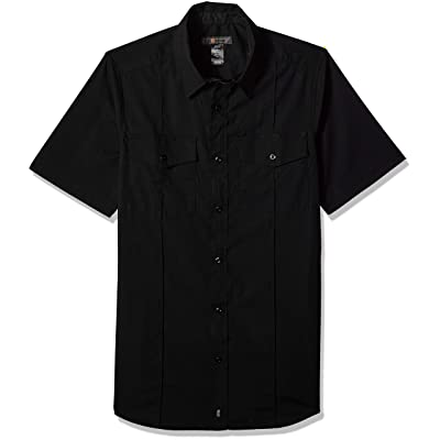 5.11 Tactical Men's Stryke Class A PDU Short-Sleeve Button-Up Shirt, Flex-Tac Stretch Fabric, Style 71037: Clothing