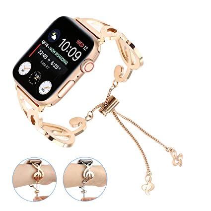 bdf35cd4f5ad4 Amazon.com: Bracelet Compatible for Apple Watch Band 38mm 40mm 42mm ...