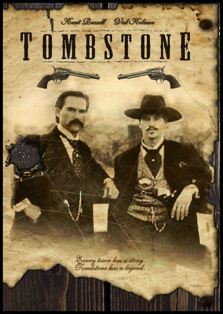 Tombstone Fridge Magnet Val Kilmer and Kurt Russell Movie Poster Canvas Print 3.5 x 5