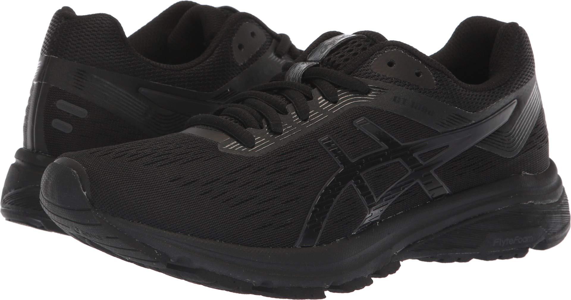 ASICS 1012A030 Women's GT-1000 7 Running Shoe, Black/Phantom - 7 D(M) US
