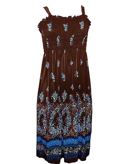 45aafda07ee Womens Summer Sun Dresses Print Beach Casual Sundress at Amazon Women s  Clothing store