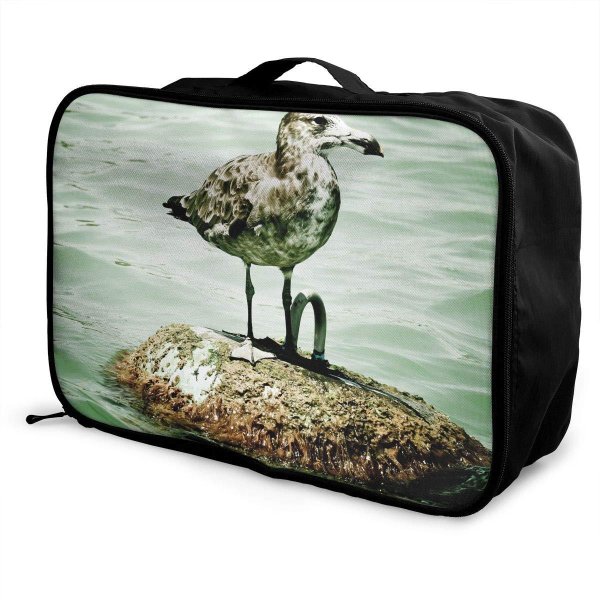 Travel Luggage Duffle Bag Lightweight Portable Handbag Birds Seagull Painting Large Capacity Waterproof Foldable Storage Tote
