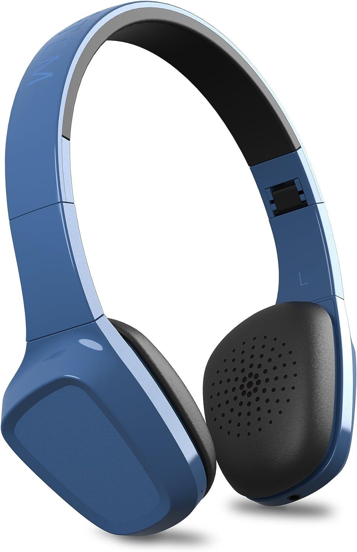 Energy Headphones 1 Bluetooth Blue (Bluetooth, Micrófono, Control de Llamadas, Batería Recargable, ultraligeros, Cable de Audio, Diadema Regulable y Almohadillas con rotación)