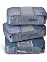 Biaggi Zipcubes- 3 Packing Cubes and Laundry Shoe Bag - Large - As Seen 12bdeb067c62a