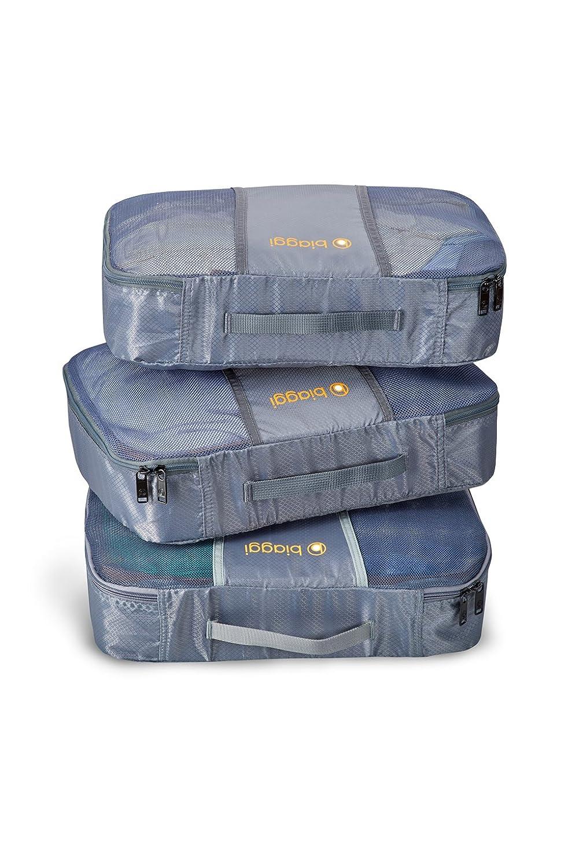 Biaggi Luggage Zipcubes - 3 Packing Cubes + Laundry/Shoe Bag, Grey Shoe Bag, Grey/M 631105-27