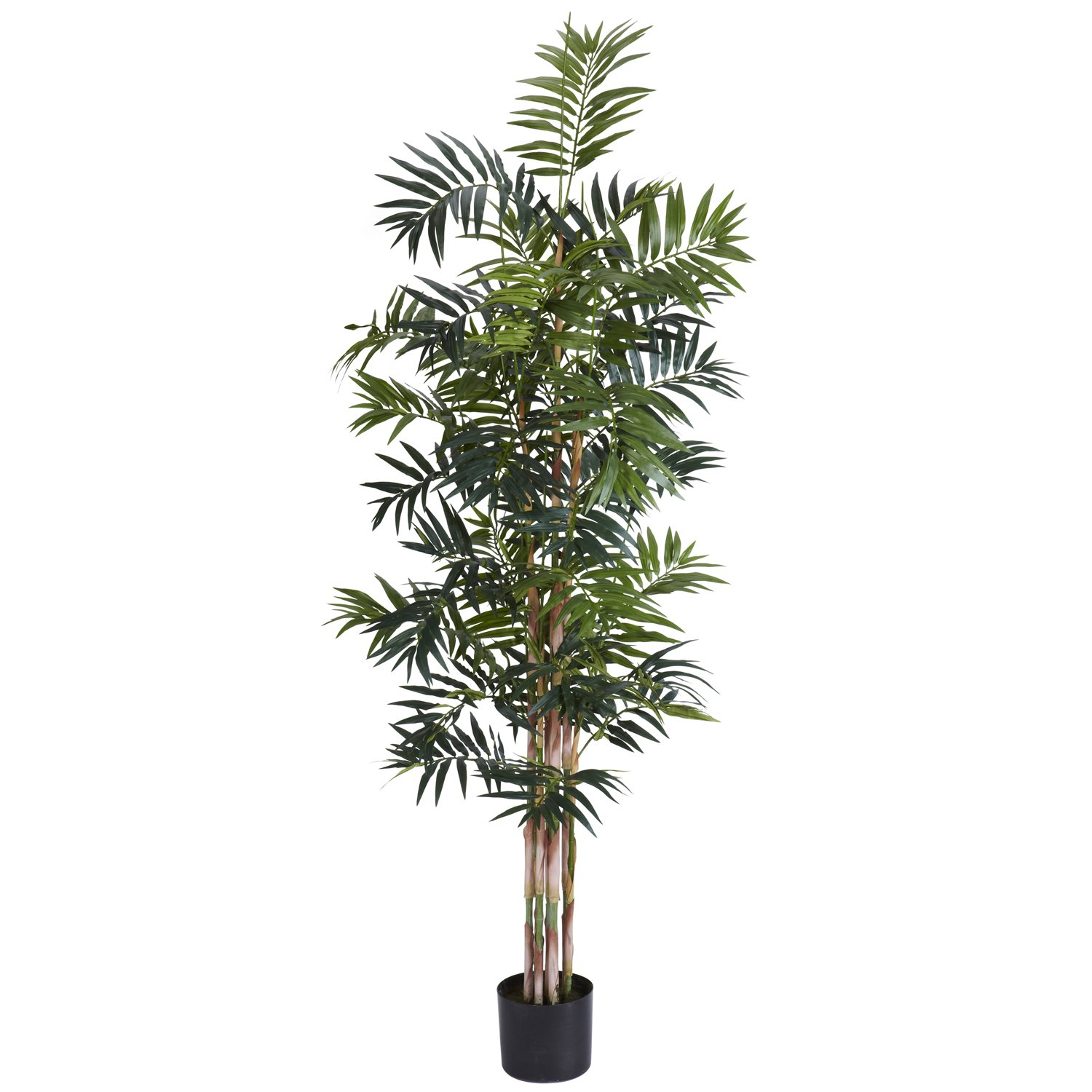 Nearly Natural 5318 Bamboo Palm Silk Tree, 4-Feet, Green