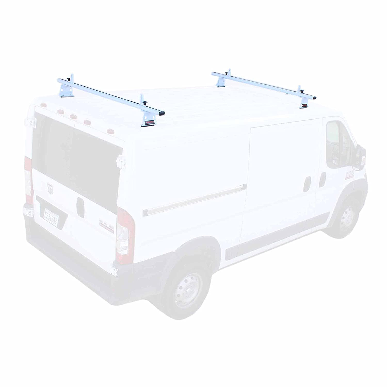 aa-racks調節可能なドリルCargo Truckラック 2 Bar, (500 lbs. evenly distributed) ホワイト AX302-72(2)-WHT-PR B077NZQLPJ 2 Bar, (500 lbs. evenly distributed)|マットホワイト