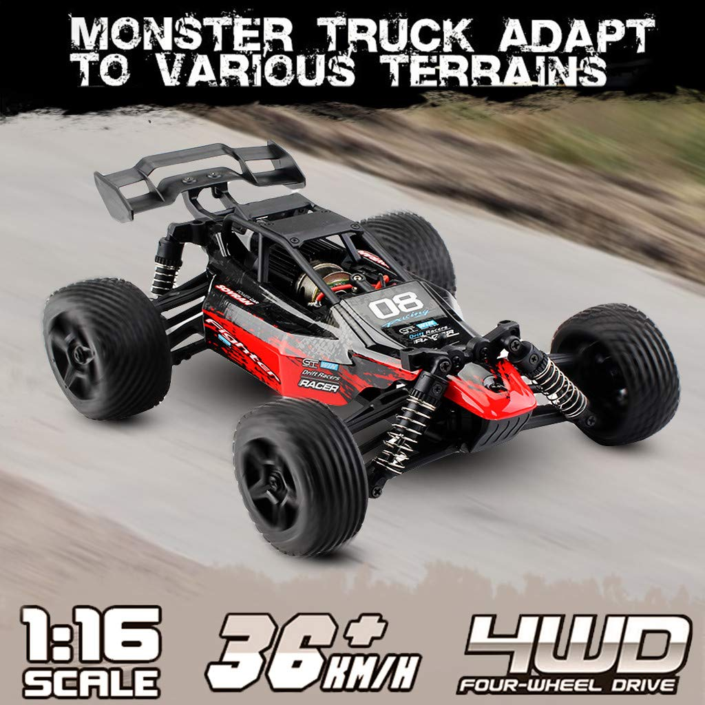 ASfairy G171 1:16 2.4G 4WD Scale Large RC Cars 36km/h+ Speed | Boys Remote Control Car Monster Truck Electric | All Terrain Waterproof Toys Trucks for Kids and Adults by ASfairy (Image #2)