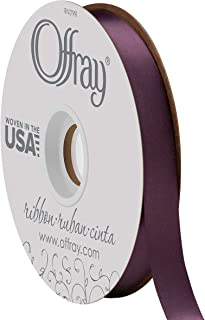 product image for Double Face Satin Ribbon, 50 Yards, Eggplant
