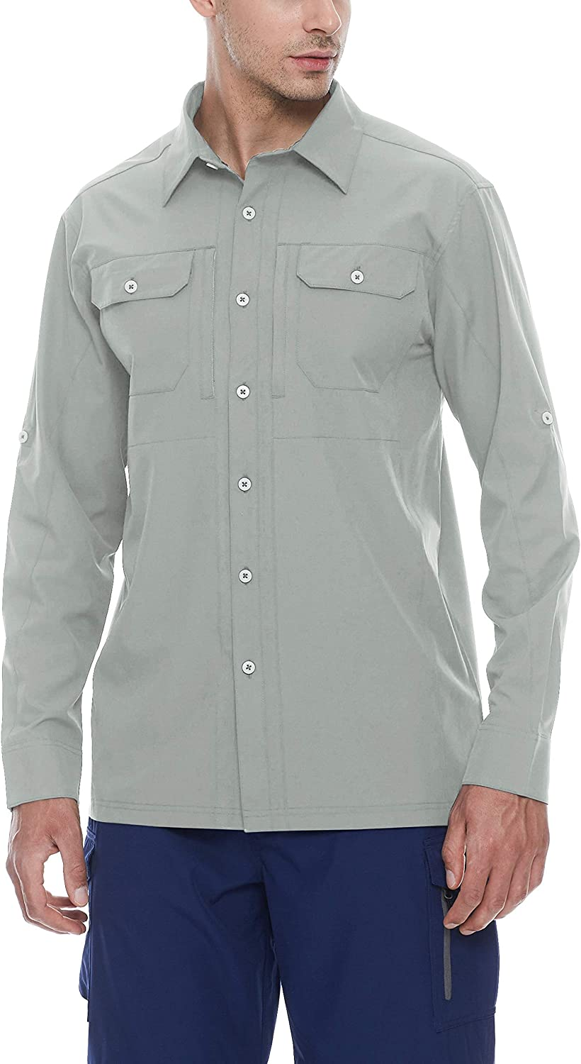 Camping Long Sleeve Shirt for Hiking Little Donkey Andy Mens Stretch Quick Dry UPF50 Travel