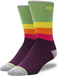 product image for Mitscoots Mens Crew Rainbow Striped Socks