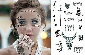 Ginkago Post Malone Style Temporary Tattoos Tattoo Set