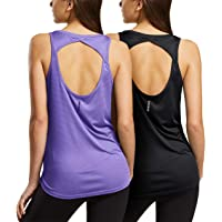 TSLA Women's Workout Tank Tops, Athletic Exercise Gym Yoga Tank Top, Active Dry Fit Running Summer Tanks