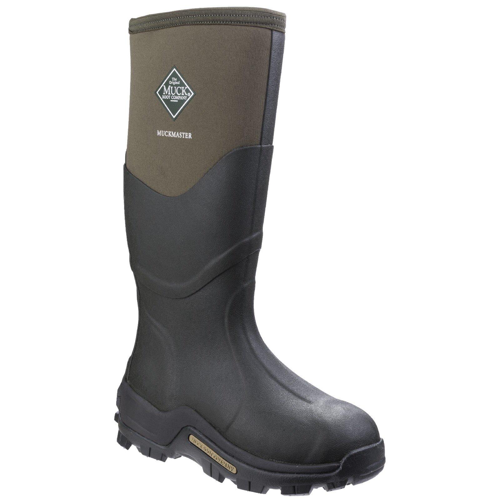 Muck Boot Unisex Muckmaster Hi Wellington Boots (11 M US / 12 W US) (Moss/Moss) by Muck Boot