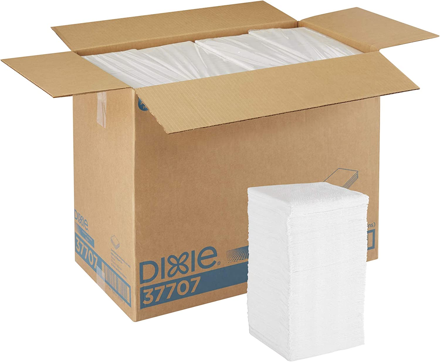 Dixie 1/4-Fold 1-Ply Luncheon Napkin (Previously Acclaim) by GP PRO (Georgia-Pacific), White, 37707, 500 Napkins Per Pack, 12 Packs Per Case