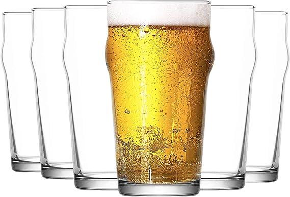 Lav Noniq - Vaso Tipo Pinta para Cerveza - 570 ml - Pack de 12: Amazon.es: Hogar