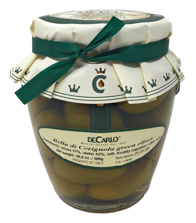 DeCarlo Bella di Cerignola Olives - 20 ozs.