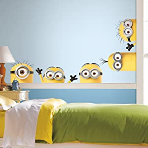 RoomMates Despicable Me 3 Peeking Minions Giant Peel And Stick Wall Decals