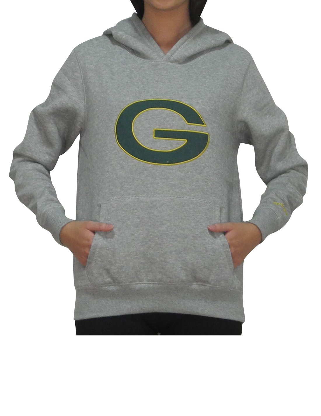 Pink Victoria's Secret GB Packers Womens Athletic Hoodie L Grey