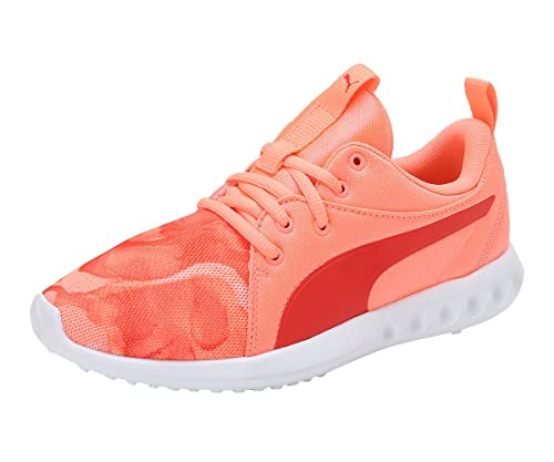 33f9f5a3199 Puma Girl s Carson 2 Mineral Jr Nrgy Peach-Poppy Red Sneakers - 6 Kids UK