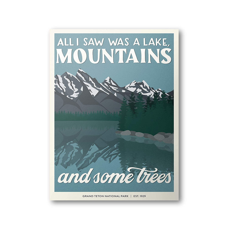 Amazon Com Grand Teton National Park Poster Subpar Parks Poster Handmade