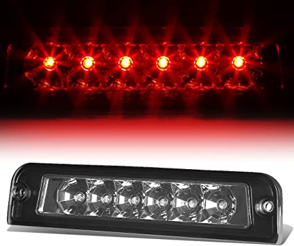 Amazon Com Rear High Mount Smoked Housing Led 3rd Third Tail Brake Light Lamp Replacement For Jeep Wrangler Tj 97 06 Automotive