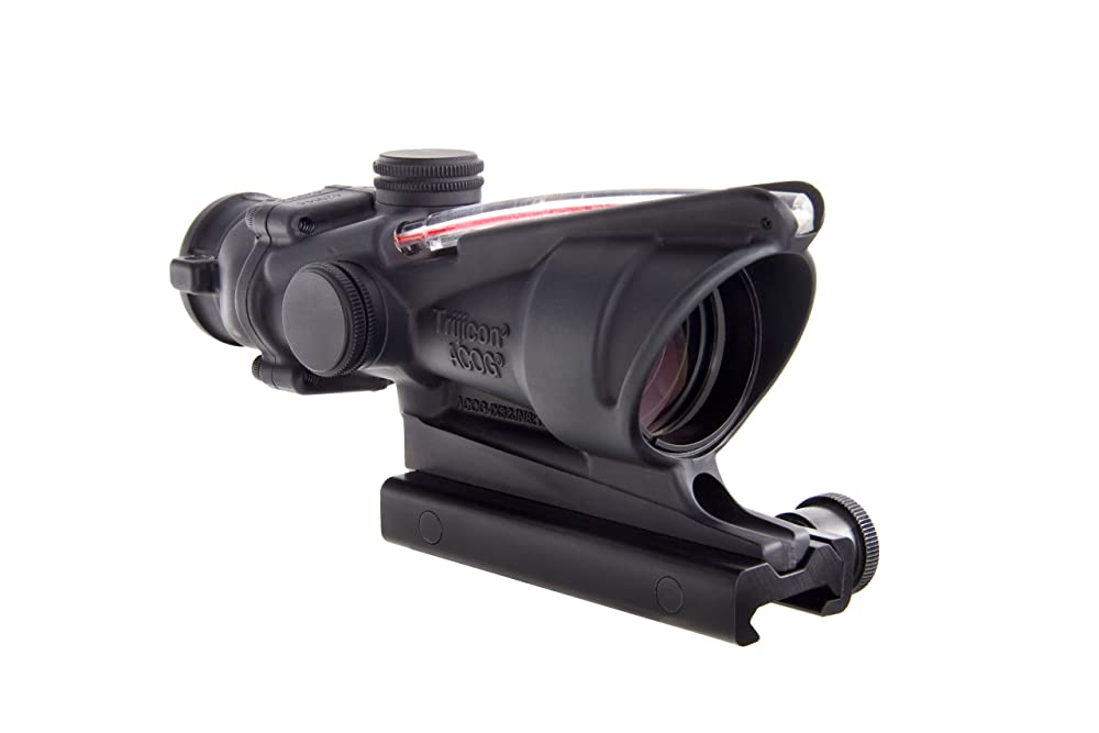 4. TA31F: Trijicon 4x32 ACOG, Dual Illuminated Red Chevron .223 Ballistic Reticle w/ TA51 Flattop Mount