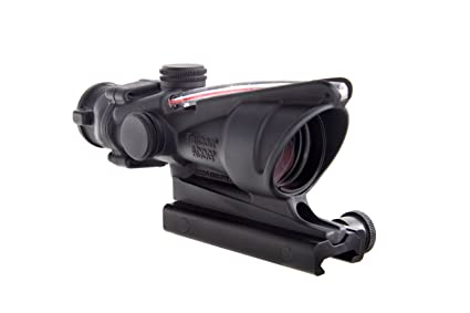 amazon com trijicon acog 4 x 32 scope dual illuminated chevron