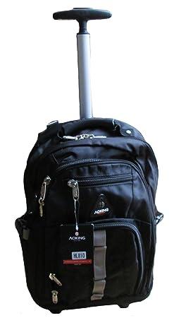 Mochila escolar con ruedas, varios colores, negro (negro) - AK510: Amazon.es: Equipaje