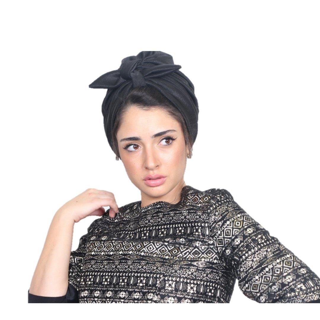 Rona Handmade Turban for Women :: Chemo & Fashion Head Wrap, 1 Size, Black