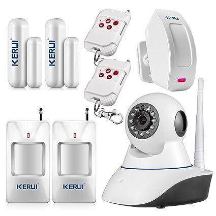 KERUI – Wireless 720P HD IP WiFi Soporte Cámara IP Sensor Alarma detección movimiento Intrusion antirrobo