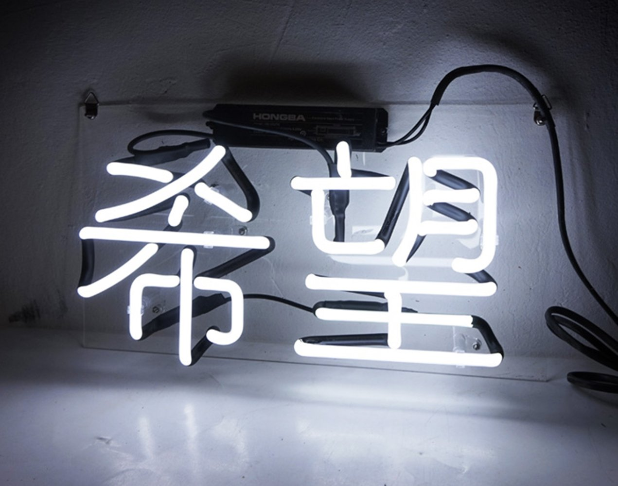New Beer Neon Signs Neon Sign Chinese Meaning 'Hope' Lamp Light Room Decor for Home Bedroom Bar Hotel Beach Cocktail Recreational Game Room 13'' x 7''