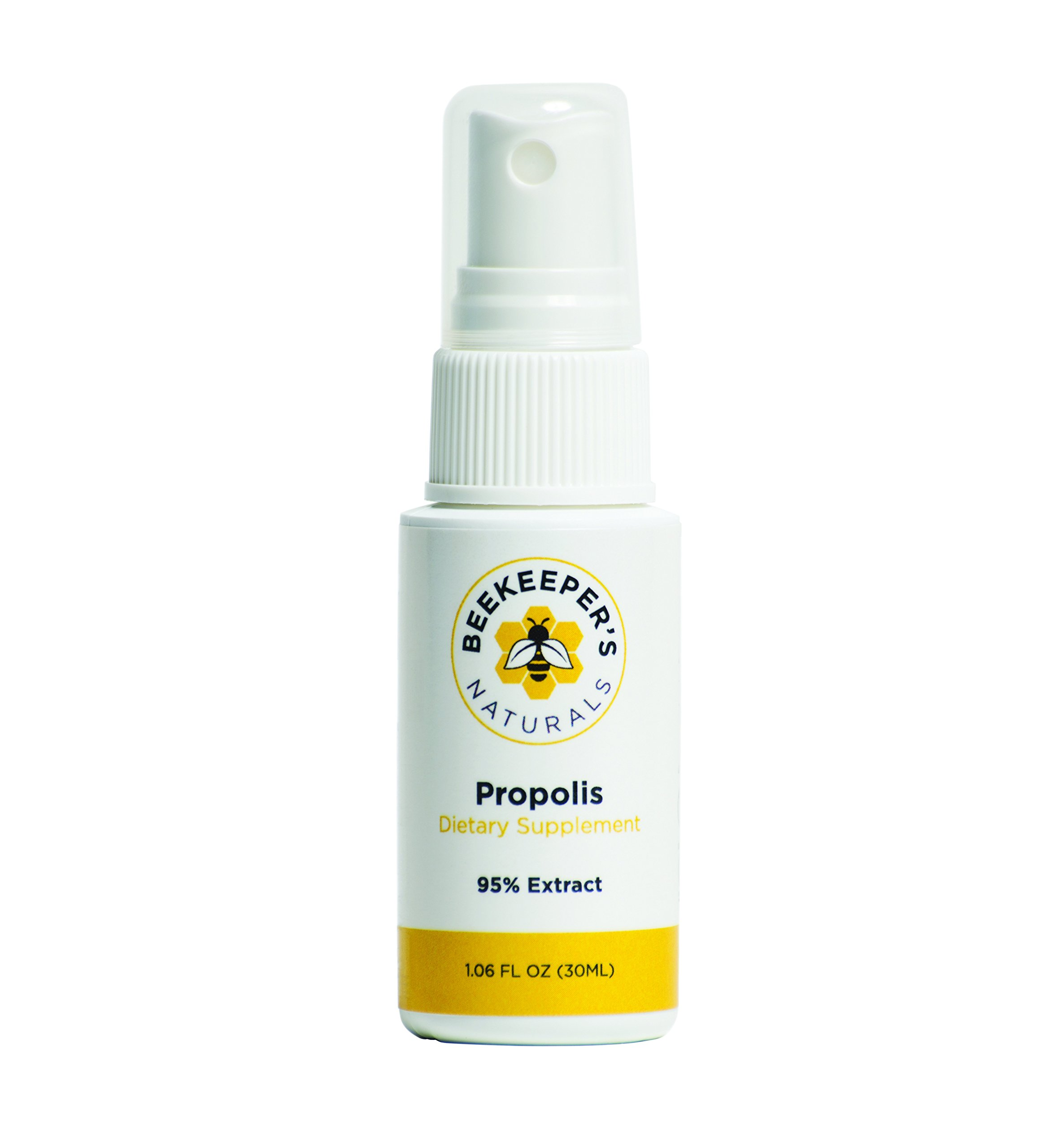 Bee Propolis - Immune Support - Sore Throat Spray - 100% MONEYBACK GUARANTEE from Beekeeper's Naturals - NA sourced premium 95% Propolis Extract - natural cold flu cough medicine - great for kids!