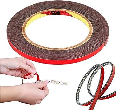 10 mm x 9.75 m impermeable CANOPUS Cinta Adhesiva para Montaje LED cinta adhesiva de doble cara de alto rendimiento cinta automotriz cinta decorativa adhesiva