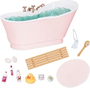 "Our Generation by Battat- Bath & Bubbles Deluxe Set for 18"" Dolls- Toy, Doll & Accessories for 18"" Dolls- Ages 3 Years & Up"
