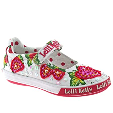 320d9b1b840f3 Lelli Kelly - LK9158 Strawberry Bar Shoes in Strawberry Print, 2 UK Youth