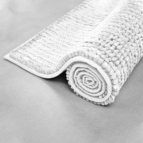 Floordirekt Chenille Badematte Coral Zarte Kraftige Farben Badezimmer Teppich Waschbarer Badvorleger 70 Cm X 120 Cm Weiss Amazon De Kuche Haushalt