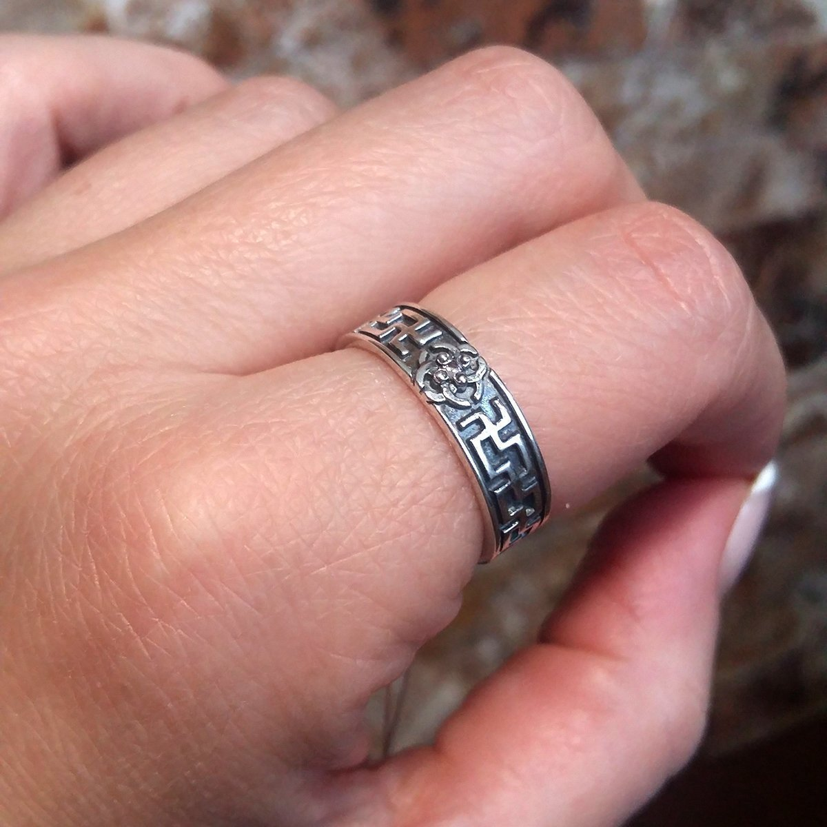 Amazon.com: Svadebnik Sterling Silver Ring Viking Wedding Band ...