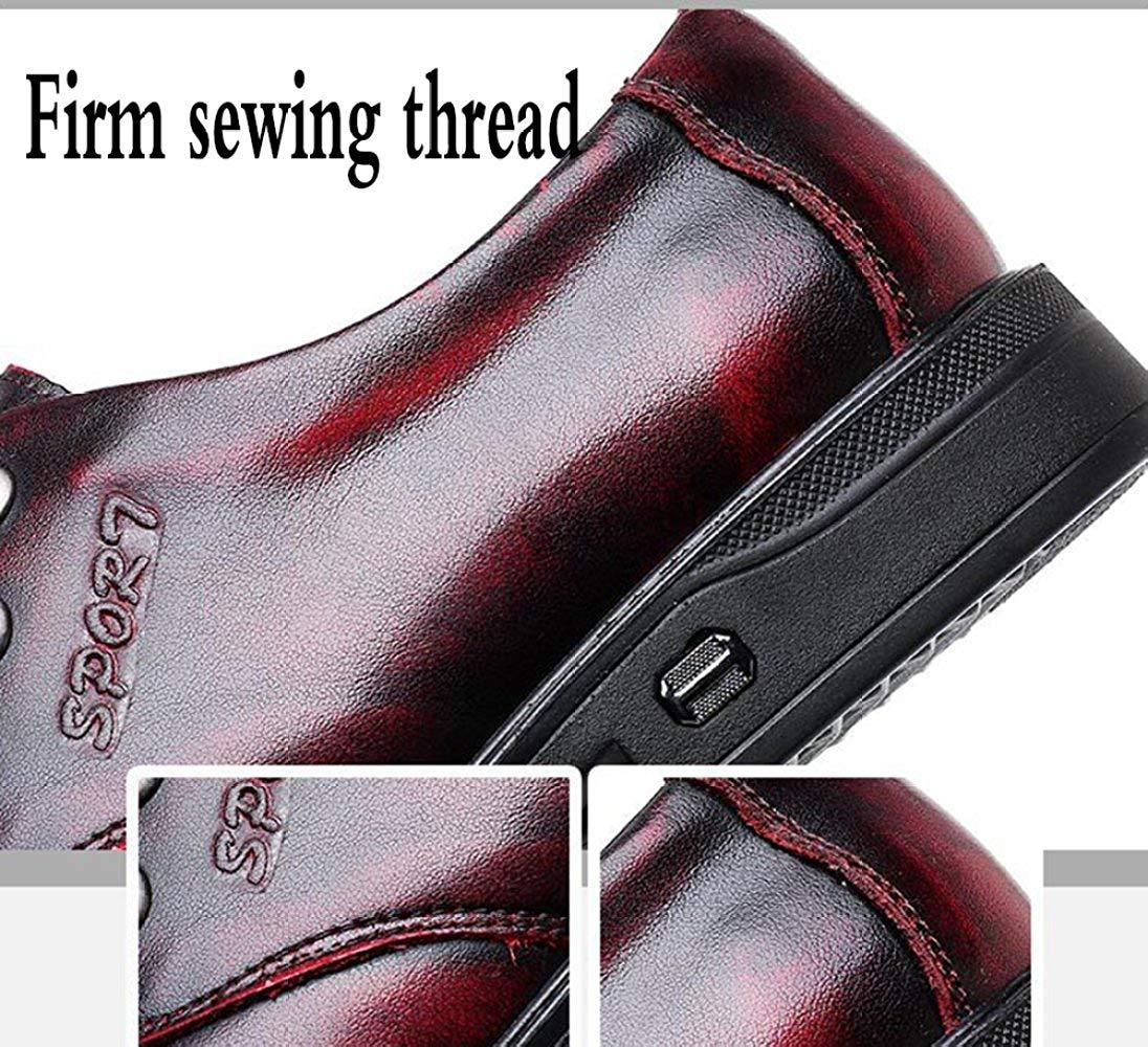 Oudan Herren-Derby-Schuhe Der Spitzenschuhe Business Casual Schuhe Jugend Mode Mode Mode Schuhe (Farbe   Weinrot, Größe   40EU) dc8d2c